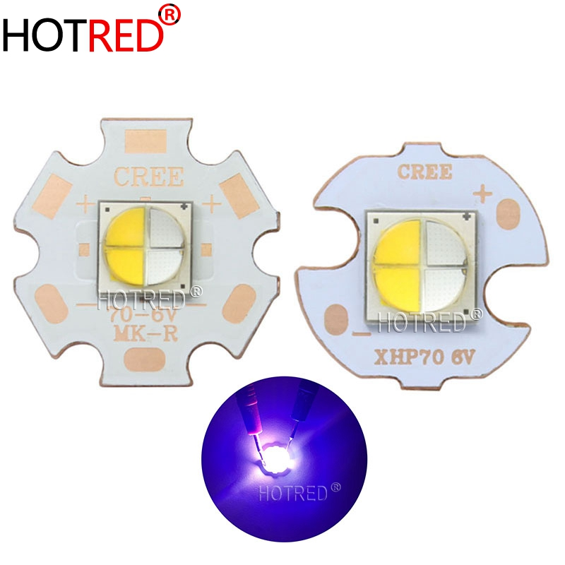 20W 7070 LED 3V6V12V Bead Replace XHP70.2 XHP50.2 Diode Emitter Chip Warm White Blue For Flashlight Bike Head Motorcycle Lamp