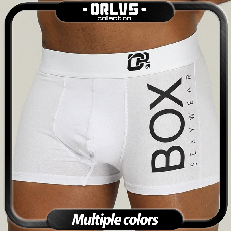ORLVS Brand Men Underwear Boxer Cotton Mens Underpants Comfortable Underwear Male Panties Breathable U Pouch Men Shorts For Gay