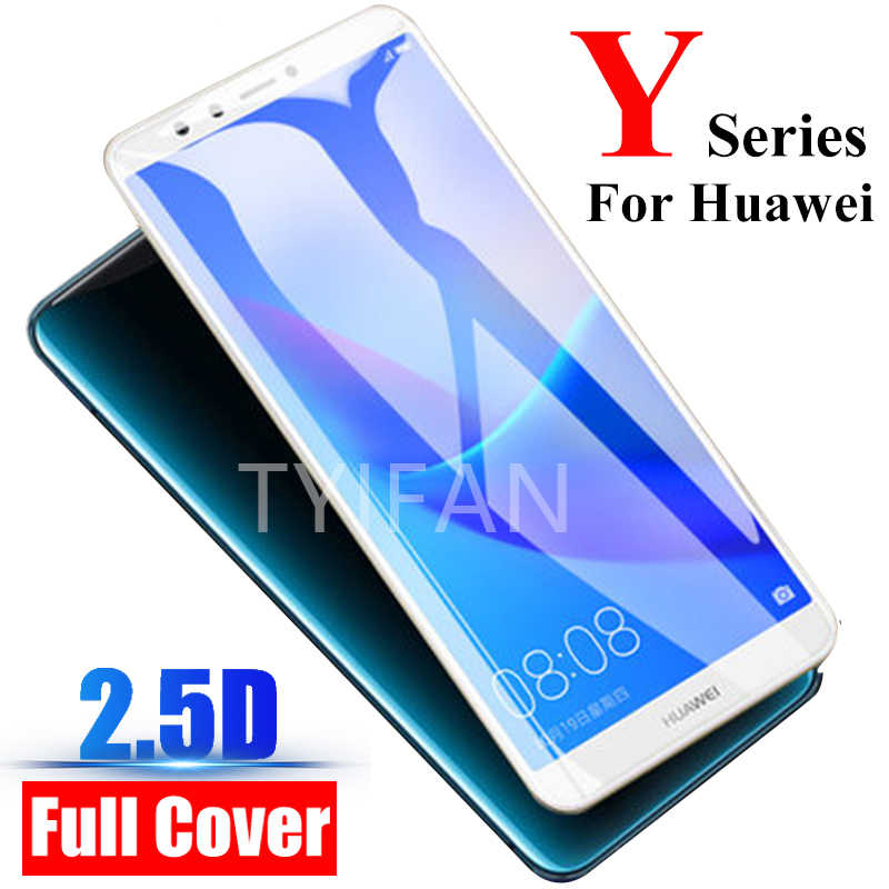 tempered glass phone case for huawei y5 y6 y7 y9 prime 2019 2018 2017 y3 cover Protective Accessories on y 3 5 6 7 9 5y 6y 7y 9y