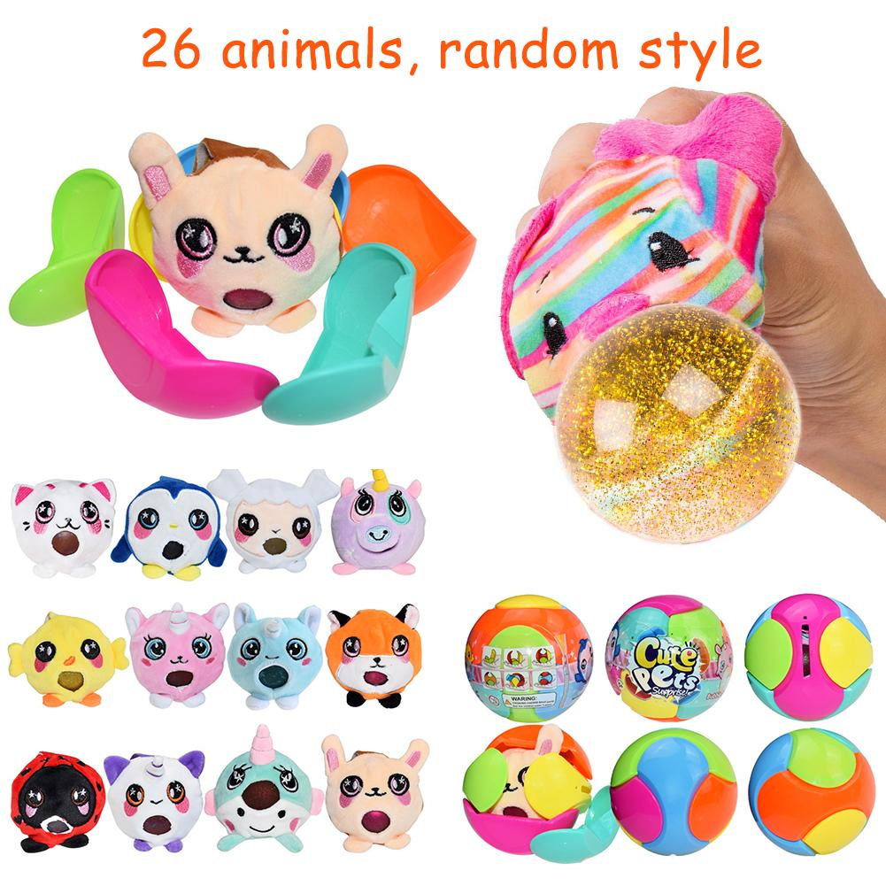 26 Models Cute Pet Spit Bubble Ball Plush Anti-stress Decompression Toy Ball For Kids