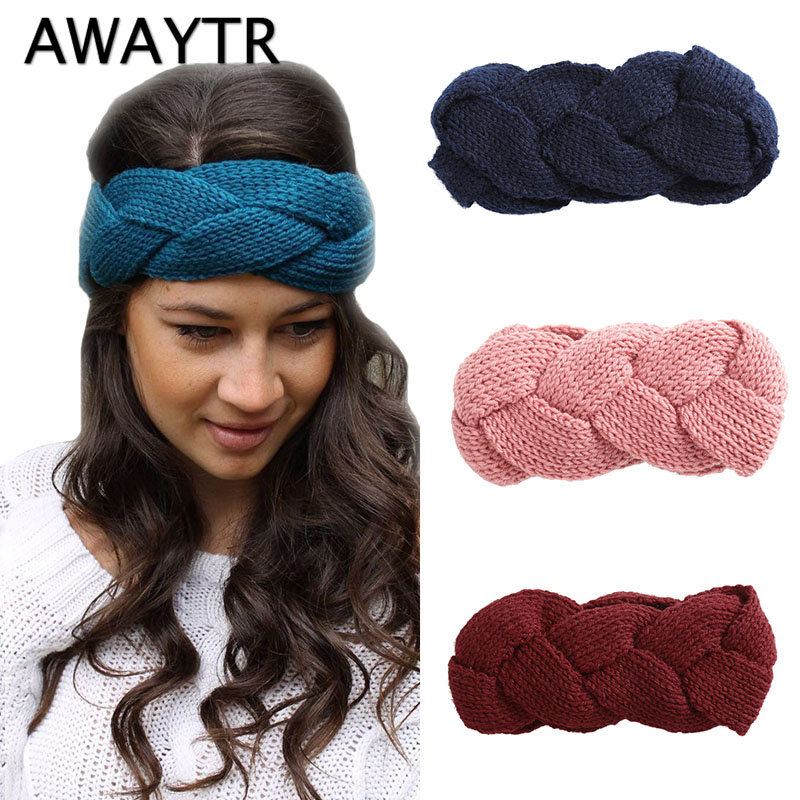 Women Knitting Headband Handmade Keep Warm Hairband Warm Hairband Sweet HOT!