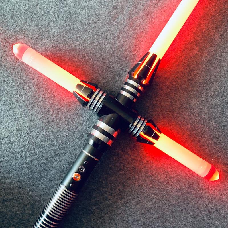 Led Lightsaber Dark Jedi Knight Cross Light Saber Sith Ben Solo De Kracht Wakker Duel Light Saber Lichtgevende Speelgoed Voor kid Gift - 2