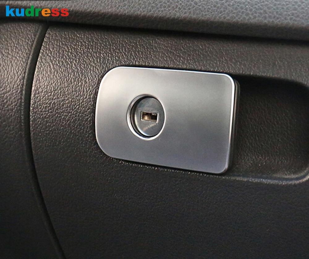 For Volkswagen VW Tiguan 2012 2013 2014 2015 Inner Interior Car Glove Storage Box Lock Switch Cover Trim Decoration Accessories