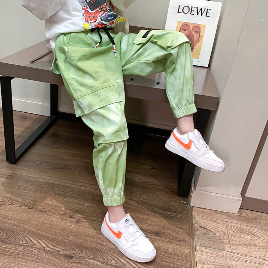 Pants For Girls Solid Pants Girls Fashion Drawstring Child Trouser Teenage Child Girl Cargo Pants For Kids Clothes 8 10 12 2