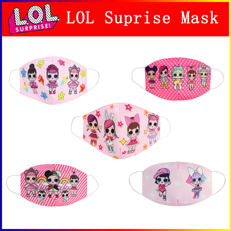 LOL Surprise Dolls Cartoon Cotton Masks Anti Dust Reusable Breathable Face Mouth Protection LOL Dolls Masks Gifts For Girls