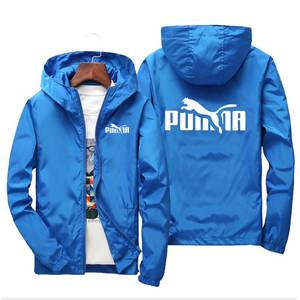 Men's Jacket Windbreaker Hooded Spring Zipper Casual Women Summer PUMBA Thin And Section