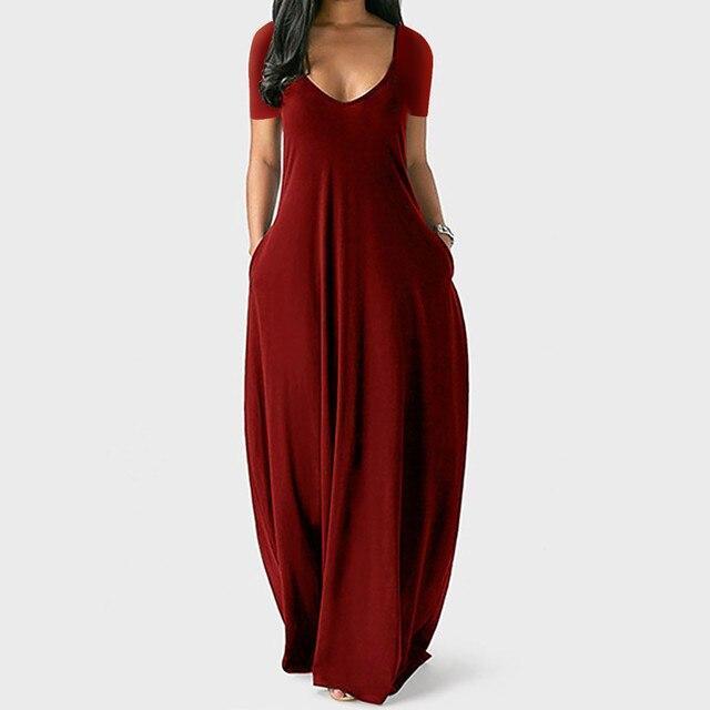 Plus Size 5xl Sexy Women Dress Summer 2021 Solid Casual Sleeveless Maxi Dress For Women Long Dress Dropshipping Lady Dresses 3
