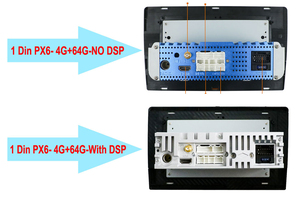 Image 5 - 1 Din Dsp Android 10 Octa Core PX6 Auto Radio Stereo Gps Navi Audio Video Unit Pc Wifi Bt Hdmi amp 7851 Obd Dab + Swc 4G + 64G