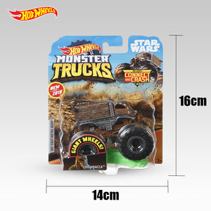 Image 5 - 1:64 Original Hot Wheels Giant Wheels Crazy Barbarism Monster Metal Model Car Toy Hotwheels Big Foot Car Children Birthday Gift