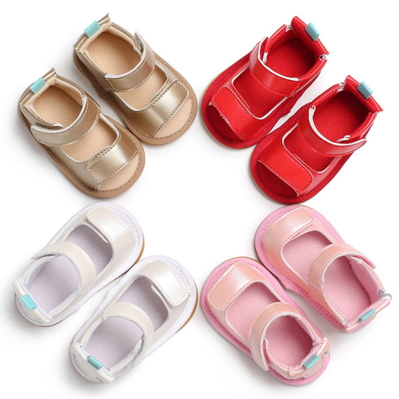 2018 Summer Baby Girl Rubber Bottom Casual Sandals Fashion Breathable Newborn Sandals PU Material Children\'s Shoes
