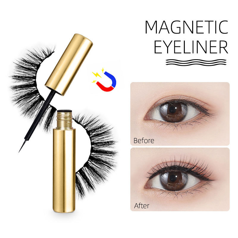 IBCCCNDC <font><b>Magnetic</b></font> <font><b>Liquid</b></font> Eyeliner Fast Dry Special For <font><b>Magnetic</b></font> <font><b>Eyelashes</b></font> Easy To Use Multi-functional Beauty Tools Without Glue image