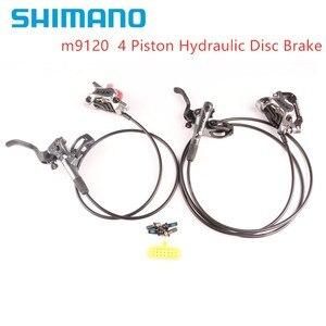 Image 4 - Shimano xtr m9100 2 pistão m9120 freio 4 pistão mountain bike xtr freio a disco hidráulico mtb gelo tecnologia melhor m9000