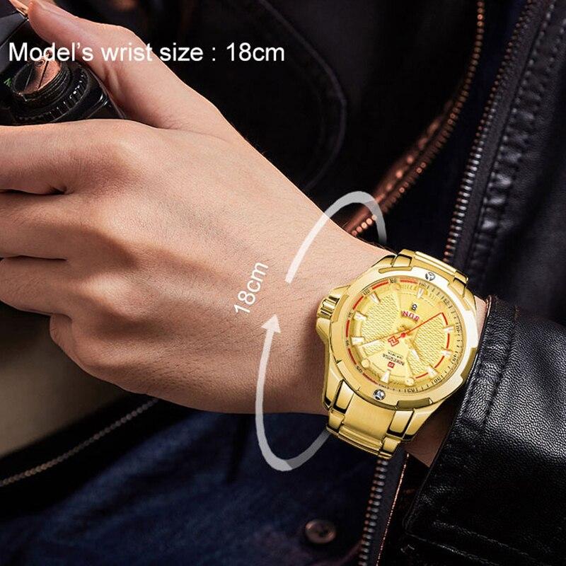 Image 2 - NAVIFORCE Military Fashion Gold Watch Men Luxury Quartz Wristwatch Sport Casual Clock Wateproof Watches Relogio Masculino 2019-in Quartz Watches from Watches