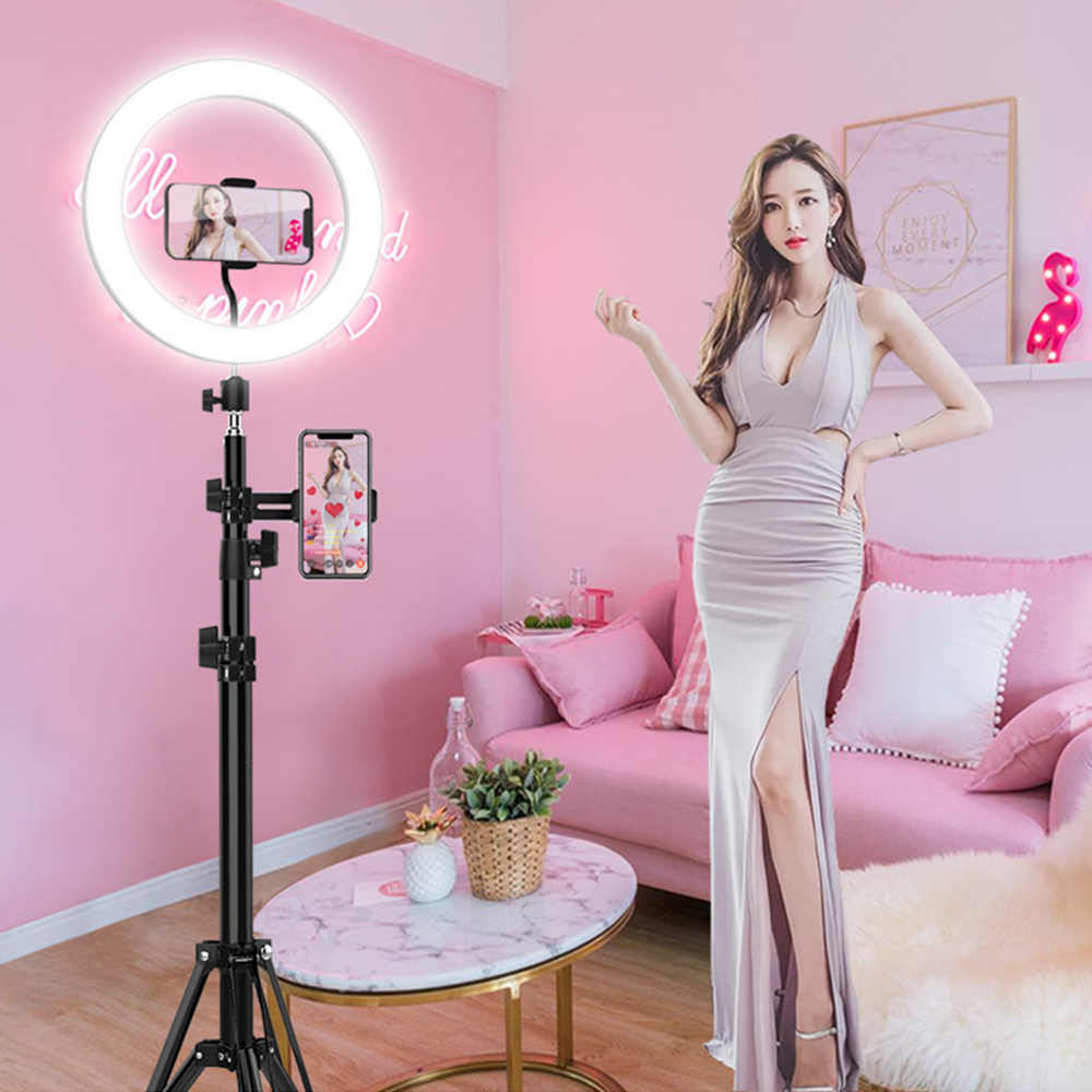 LED Desktop Ring Light Stepless Dimming USB Plug With About 8 inch For Tik Tok YouTube Video Vlog Live Photo Photography Studio