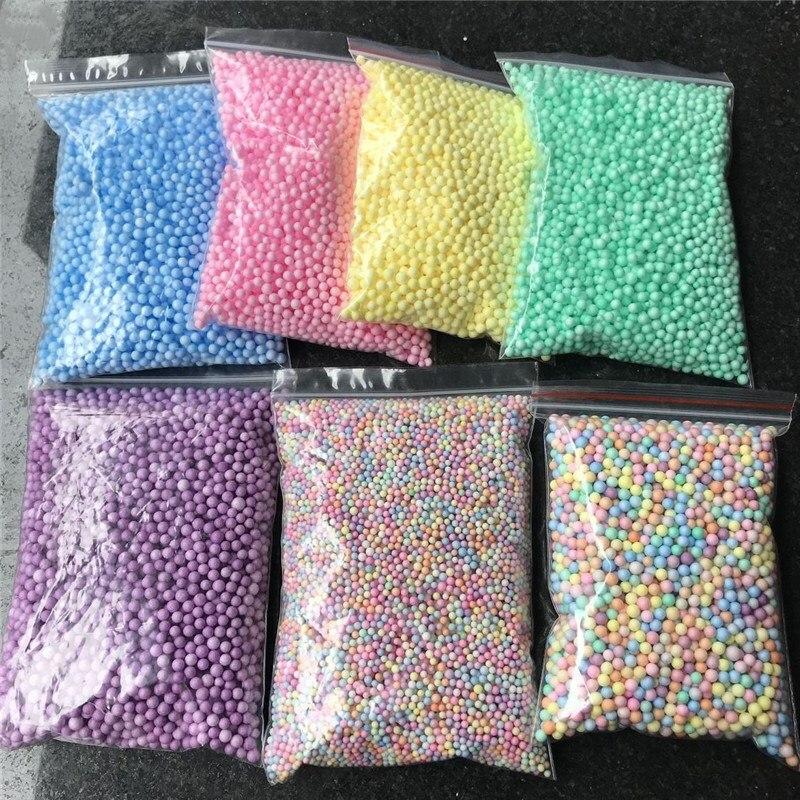 1pack Polystyrene Styrofoam Balls Bottle DIY Snow Mud Particles Accessories Slime Balls Small Tiny Foam Beads Ballon Foam Filler