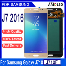 100% tested Super Amoled LCD For Samsung Galaxy J7 2016 J710 J710F J710M J710G LCD Display Touch Screen Digitizer Assembly