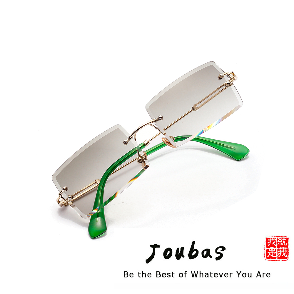 Joubas Sunglasses Men/Women 2019 Rectangle Rimless Transparent Sun Glasses Vintage Luxury Eyewear Trendy Brand Designer Shades