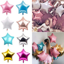 5pcs Star Shape Foil Balloons 18inch Gold Silver Metallic Balloon for Kids Adult Happy Birthday Party Wedding Baby Shower Decors star 5pcs 18inch foil star balloon wedding decoration silver gold heart balloons birthday baby shower wedding party suppl