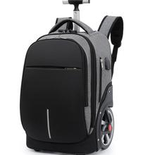 18 Inch School Trolley Backpack Bag for teenagers large wheels Travel Wheeled backpack bag On wheels Trave Rolling luggage Bag