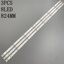 1 סט = 3PCS LED תאורה אחורית רצועת מנורת עבור akai 43 אינץ טלוויזיה JS D JP4310 A81EC JS D JP4310 B81EC E43DU1000 MCPCB