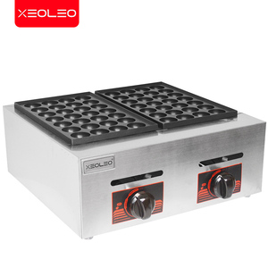 Image 5 - XEOLEO Double plates Gas Fish ball machine LPG Takoyaki ball Grill machine Commercial Octopus ball furnace