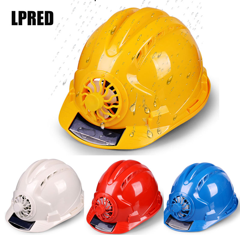 Helmet Protective-Cap Safety-Hat Workplace Abs-Material Solar-Panel Powered Outdoor Fan title=