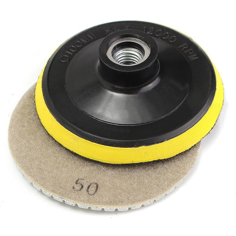 19pcs Wet Diamond Polishing Pads 3 Inch Set Kit For Granite Concrete Marble Tool