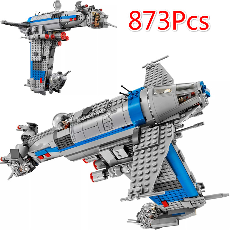 873Pcs 05129 Rebel Bomber Set Genuine Star Toys Wars Classic Series Building Blocks Bricks Compatible with Legoinglys Toys <font><b>75188</b></font> image