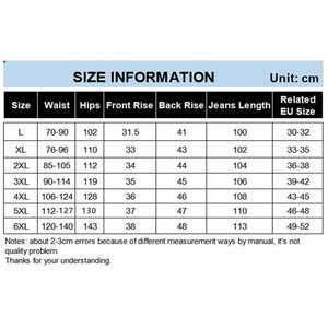 Image 5 - Winter Pants Men Island Fleece Velet Warm Jeans Boy Denim Jeans Size 5XL 6XL Blue Jean Man Elastic High Waist Slim Fit Trousers