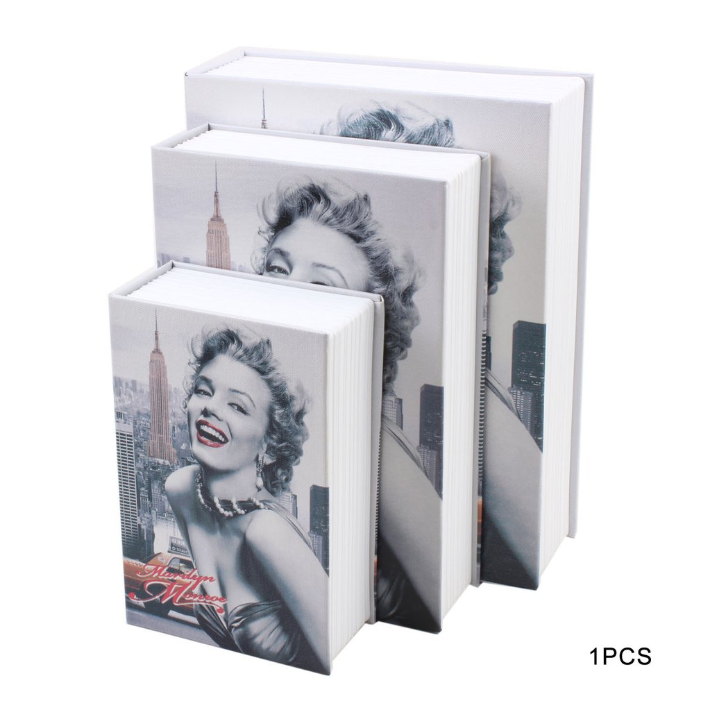 Creative Color Book Safe Insurance Box Money Box Key Box Storage Gift