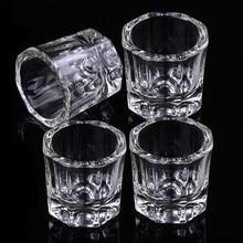 1 adet kristal cam akrilik akrilik toz sıvı Nail fincan Dappen bulaşık kapaklı kase bardak tutucu ekipmanları tırnak araçları