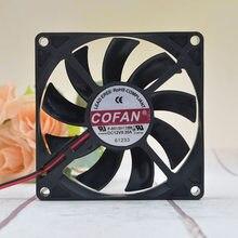COFAN – ventilateur de refroidissement, châssis Ultra-mince, grand Volume d'air, 12V, 0,35 a, 8cm, 1 pièce