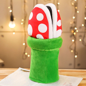 Image 3 - Women Halloween Carnival Fancy Funny Flower Cosplay Shoes Super Mario Cannibal Flower Piranha Slip on Home Wear Slippers