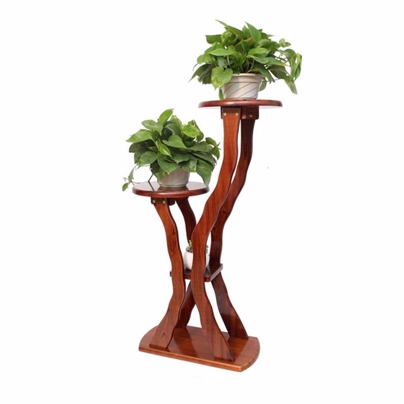 Rak Bunga Plantenstandaard Balkon Stojaki Repisa Para Plantas Wood Plant Outdoor Stojak Na Kwiaty Shelf Dekoration Flower Stand