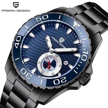 PAGANI DESIGN nowy automatyczny zegarek męski Top marka luksusowe szafirowe szkło mechaniczny zegarek ze stali nierdzewnej 100M wodoodporny zegarek tanie i dobre opinie 10Bar CN (pochodzenie) Składane bezpieczne zapięcie Moda casual Samoczynny naciąg 25 5cm STAINLESS STEEL Odporna na wstrząsy