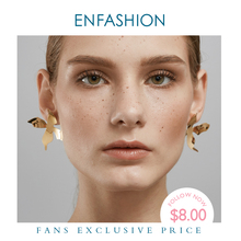 ENFASHION Big Flower Stud Earrings For Women Wholesale Gold Color Stainless Steel Spring Earings Fashion Jewelry Oorbellen E5463