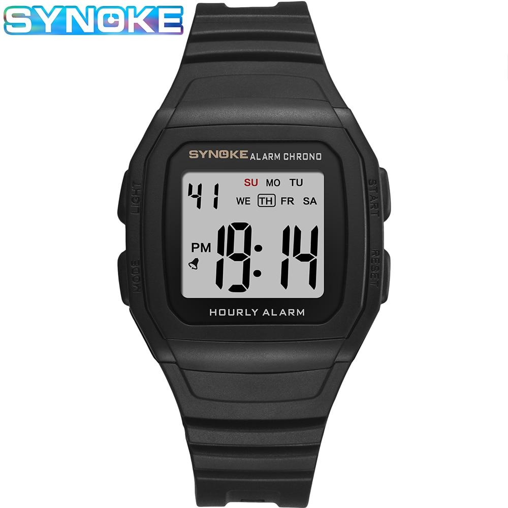 SYNOKE Sports Watches For Men New Casual Shock Resist Black  Watch LED Digital Watch Relojes Men Wristwatches reloj de hombre