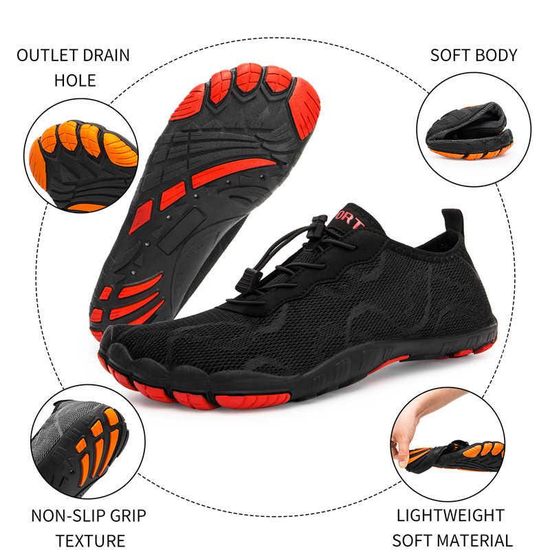 ผู้ชายรองเท้ารองเท้าแตะชายชายหาดรองเท้าสำหรับสตรีรองเท้าต้นน้ำBreathableกีฬารองเท้าQuick Dry River Sea Waterรองเท้าผ้าใบ
