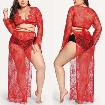 Long Sleepshirts Fashion Gowns Lace Sexy Sleepwear Lingerie Plus Size Nightgown Night Dress Womens Clothing Big size For Sex