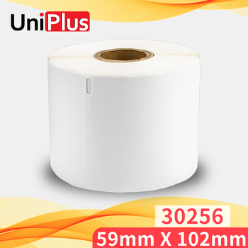 UniPlus 300pcs Shipping Label 30256 59*102mm Compatible DYMO Label Printer LW 400 LW450 Thermal Paper Label Roll Printing Sticky