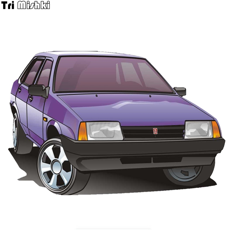 Tri Mishki WCS676 12*17.7cm VAZ 2115 Car Sticekr PVC Coloful Decals Motorcycle Accessories Sticker