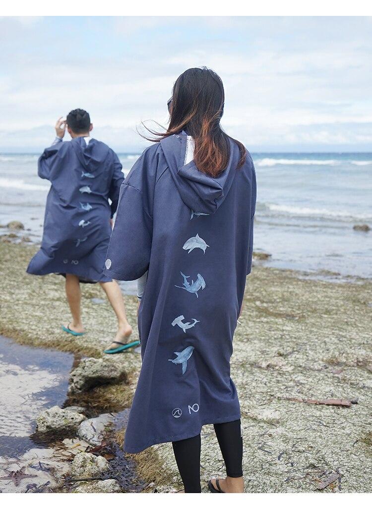 manto homem mulher roupão com capuz surf poncho toalha maiô beachwear