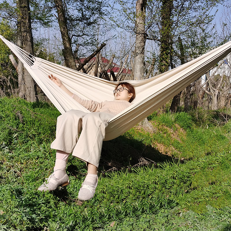 White Canvas Hammock