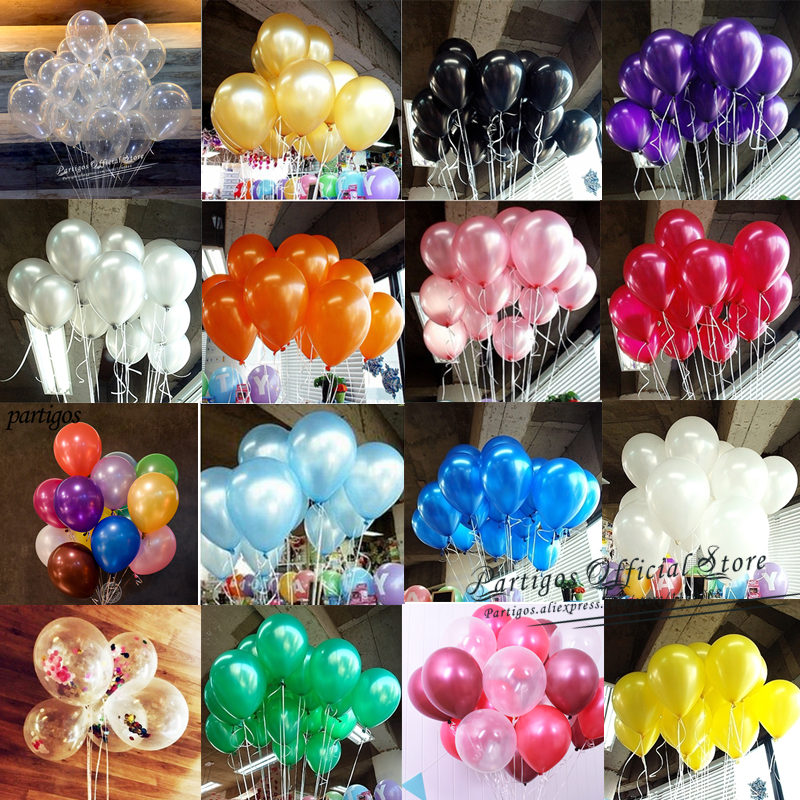 20pcs 5inch 10inch Gold Black Pearl Latex Balloons Helium Balls Inflatable Globos Wedding Party Decor Birthday Party Decor Kids