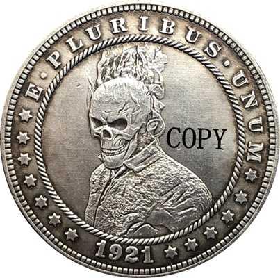 Hobo Nikkel 1921-D Vs Morgan Dollar Munt Copy Type 157