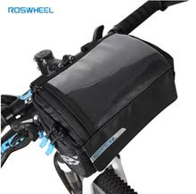 цена на Roswheel Bike Frame Bag PVC Map Pocket Top Tube Bag Pannier For Bicycle Front Rack Storage Bags Riding Cycling Handlebar Bag