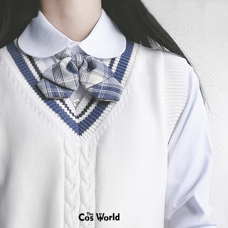 [Gentle Knife] Spring Autumn Sleeveless Knit Vests Pullovers V Neck Sweaters For JK School Uniform Students Cloths