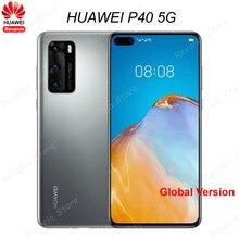 Global Versie Huawei P40 Mobiele 5G Telefoon 6.1 Inch Kirin 990 Android 10 Gebaar Sensor Sa/Nsa Bluetooth 5.1 Smart Telefoon 50MP
