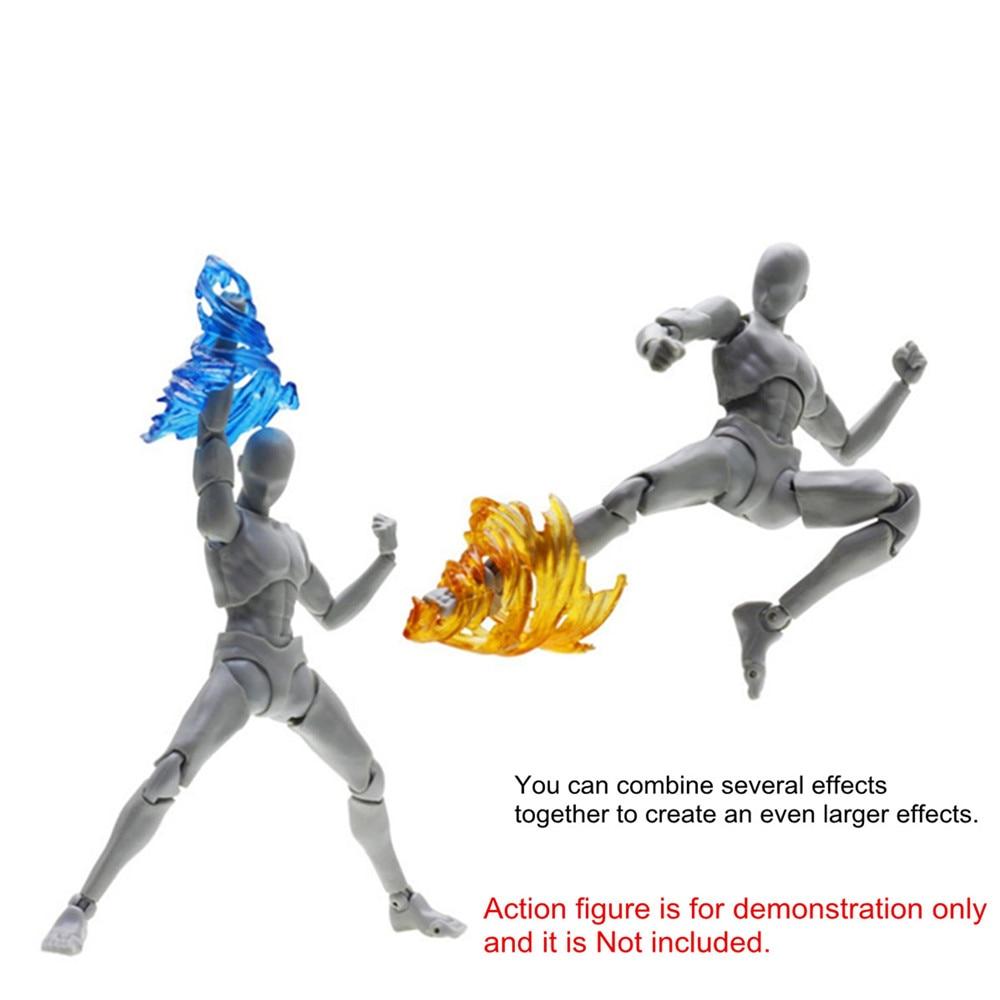 Impact Effect Action Figure Wind Kick Flame For Kamen Rider Figma SHF Model 7 Colors Plastic Impact Effect Parts