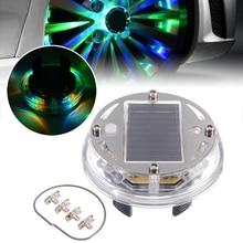 цена на High Qrade 4 Modes 12 LED RGB Car Auto Solar Energy Flash Wheel Tire Rim Light for Auto Car Decoration Colorful Atmosphere Lamp